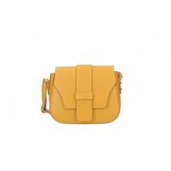 Talianska kožená kabelka 870A okrová MADE IN ITALY, okrová