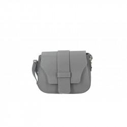 Talianska kožená kabelka 870A tmavá šedá MADE IN ITALY, šedá
