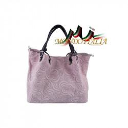Talianska kožená kabelka 88H ružová MADE IN ITALY, ružová