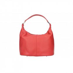Talianska kožená kabelka 9011 červená MADE IN ITALY,