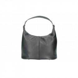 Talianska kožená kabelka 9011 čierna MADE IN ITALY, čierna