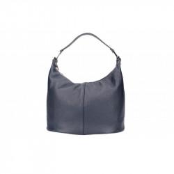 Talianska kožená kabelka 9011 modrá MADE IN ITALY, modrá