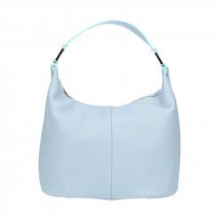 Talianska kožená kabelka 9011 nebesky modrá MADE IN ITALY, Farba nebesky modrá MADE IN ITALY SAMONA S7077