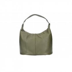 Talianska kožená kabelka 9011 vojenska zelená MADE IN