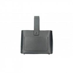 Talianska kožená kabelka 9012 čierna MADE IN ITALY, čierna