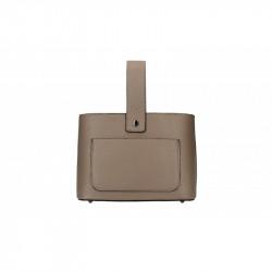 Talianska kožená kabelka 9012 tmavá šedohnedá MADE IN ITALY, šedohnedá