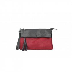 Talianska kožená kabelka 9014 červená MADE IN ITALY, červená