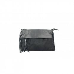 Talianska kožená kabelka 9014 čierna MADE IN ITALY, čierna