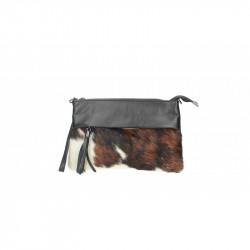 Talianska kožená kabelka 9014 hnedá MADE IN ITALY, hnedá