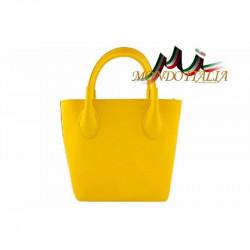 Talianska kožená kabelka 93 žltá MADE IN ITALY