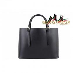 Talianska kožená kabelka 95 čierna MADE IN ITALY 95