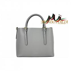 Talianska kožená kabelka 95 šedá, šedá