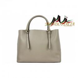 Talianska kožená kabelka 95 šedohnedá MADE IN ITALY 40abb426507