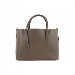 Talianska kožená kabelka 95 tmavá šedohnedá MADE IN
