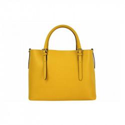 Talianska kožená kabelka 95 žltá MADE IN ITALY, žltá