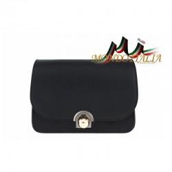 Talianska kožená kabelka 9666 čierna MADE IN ITALY 9666 146ca3f7a03