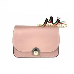Talianska kožená kabelka 9666 ružová MADE IN ITALY 9666