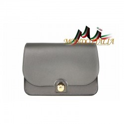 Talianska kožená kabelka 9666 tmavošedá MADE IN ITALY 9666