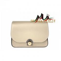 Talianska kožená kabelka 9666 zlatá MADE IN ITALY 9666