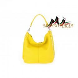 Talianska kožená kabelka 981 žltá MADE IN ITALY