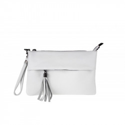 Talianska kožená kabelka biela MADE IN ITALY, biela