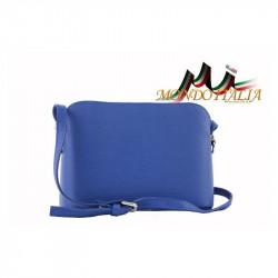 Talianska kožená kabelka cez rameno 1310A azurovo modrá, modrá