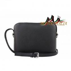 Talianska kožená kabelka cez rameno 1310A čierna MADE IN ITALY 1310A