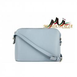 Talianska kožená kabelka cez rameno 1310A nebesky modrá, modrá
