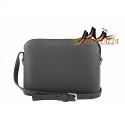 Talianska kožená kabelka cez rameno 1310A tmavošedá MADE IN ITALY 1310A