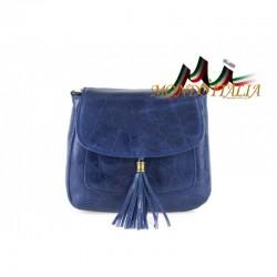 Talianska kožená kabelka cez rameno 700 jeans MADE IN ITALY