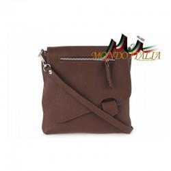 Talianska kožená kabelka cez rameno 9663 hnedá MADE IN ITALY 9663