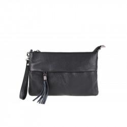 Talianska kožená kabelka čierna MADE IN ITALY, čierna