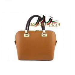 Talianska kožená kabelka do ruky 34 koňak MADE IN ITALY 34