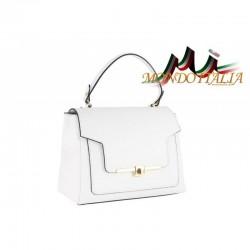 Talianska kožená kabelka do ruky 657 biela MADE IN ITALY