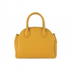 Talianska kožená kabelka do ruky 764 okrová MADE IN ITALY,
