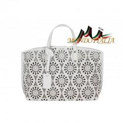 Talianska kožená kabelka do ruky 785 šedá MADE IN ITALY