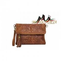 Talianska kožená kabelka kroko štýl 630 hnedá MADE f57555bde87