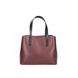 Talianska kožená kabelka MILLY 5062 bordová, bordová