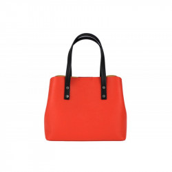 Talianska kožená kabelka MILLY 5062 koralová, lososová,