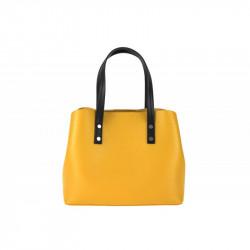 Talianska kožená kabelka MILLY 5062 okrová, okrová
