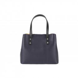 Talianska kožená kabelka MILLY 5062 tmavomodrá, modrá