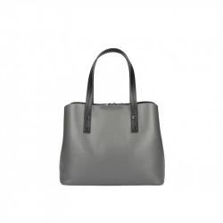 Talianska kožená kabelka MILLY 5062 tmavošedá, šedá