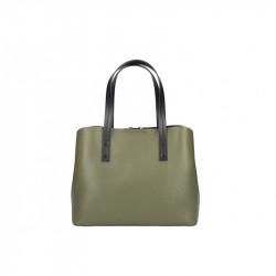 Talianska kožená kabelka MILLY 5062 vojenska zelená,