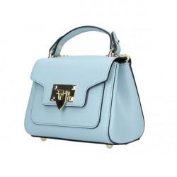Talianska kožená kabelka na rameno 186 nebesky modrá, Nebesky modrá
