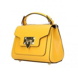 Talianska kožená kabelka na rameno 186 okrová, Okrová