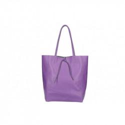 Talianska kožená kabelka na rameno 396 fialová MADE IN ITALY, fialová