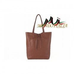 Talianska kožená kabelka na rameno 396 hnedá MADE IN ITALY 396