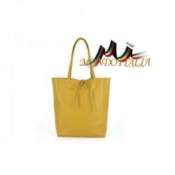 Talianska kožená kabelka na rameno 396 okrová MADE IN
