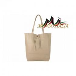 Talianska kožená kabelka na rameno 396 šedohnedá MADE IN ITALY 396