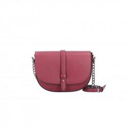 Talianska kožená kabelka na rameno 5074 červená, červená